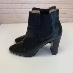 BANANA REPUBLIC Ankle BOOTS Black Leather 10